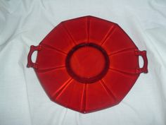 vintage ruby red cake plate by handymanhowto on Etsy, $39.95 20% off Use code 202012 @ checkout