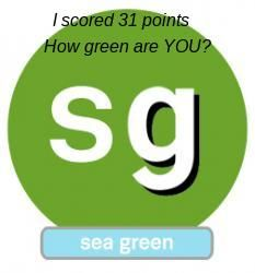 According to livingreen's quiz, I am sea green. What shade of green are you? Take this quick quiz to find out! http://greenblog.livingreen.com/how-are-you-livingreenin2014/