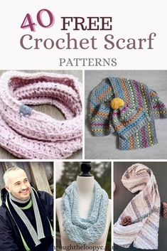 40 Free Crochet Scarf Patterns | Through The Loop Yarn Craft