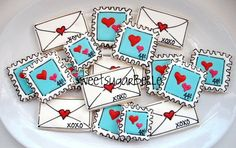 More cute Valentine cookies from Sweet Sugarbelle