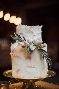 Dusty Rose Wedding Ideas - Cake - J Wells Photography