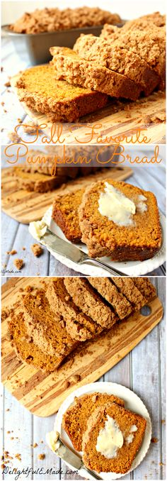 This Fall Favorite Pumpkin Bread is perfect for breakfast or a snack any time of day. This moist delicious bread is perfect to celebrate Fall! #Delightfulemade #Pumpkinbread #Pumpkinlove