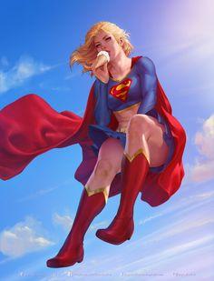 Supergirl, Krystopher Decker - Digital Art (Character, Creature & More) Dc Comics Art, Heros Comics, Dc Comics Characters, Dc Heroes, Marvel Dc Comics, Rogue Comics, Dc Comics Girls, Thor Marvel, Comic Art