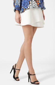 Topshop+Curved+Hem+Skater+Skirt+available+at+#Nordstrom
