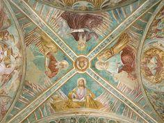Benozzo Gozzoli - Gesù benedicente e i quattro Apostoli volta del Tabernacolo della Madonna della Tosse - 1484 - affreschi staccati - BEGO-Museo Benozzo Gozzoli - Castelfiorentino