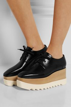 Stella McCartney | Faux leather platform brogues | NET-A-PORTER.COM