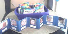 Acordeon con fotos de los meses desde recien nacido hasta el primer año!