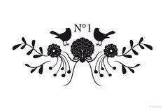Möbeltattoos - Möbeltattoo - Vogel - Ranke - NO 1 - ein Designerstück von Monkimia bei DaWanda