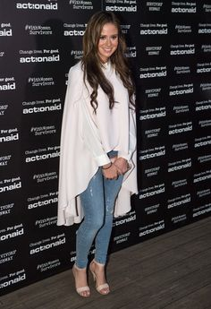 Camilla Thurlow during the ActionAid Fashion Show held at The Old Truman Brewery on October 2017 in London, England. Camilla Thurlow, Love Island, Fashion Show, French, Celebrities, Coat, People, Style, French People