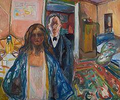 L'artiste en son modèle, 1919-21, Edvard Munch