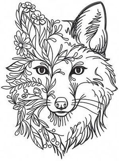 Fox in Flowers Urban Threads: Unique and Awesome Embroidery Designs Crewel Embroidery Kits, Machine Embroidery Projects, Paper Embroidery, Embroidery Patterns Free, Hand Embroidery Designs, Embroidery Supplies, Embroidery Needles, Flower Embroidery, Embroidery Tattoo