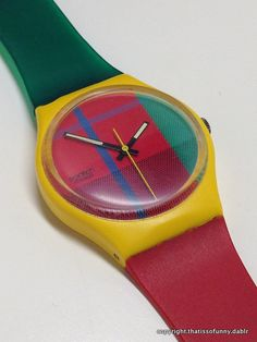 Vintage Swatch Watch McGregor GJ100 1985 by ThatIsSoFunny on Etsy