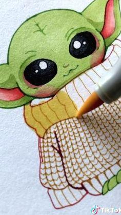 Art Drawings Sketches Simple, Pencil Art Drawings, Cute Drawings, Simple Disney Drawings, Copic Marker Drawings, Colored Pencil Artwork, Drawing Disney, Disney Sketches, Color Pencil Art
