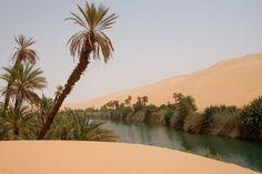 A lake in the Ubari Desert.