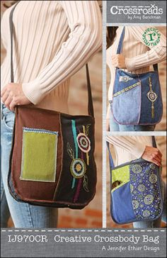 Creative Crossbody Bag ePattern PDF | Sewing Pattern | YouCanMakeThis.com