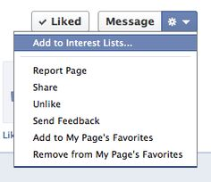 Do you know about the new interest lists on Facebook?