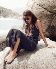 Madewell Embroidered Kilim Maxidress