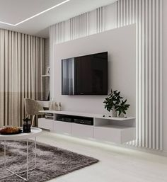 45 Modern Home Entertainment Centers That Will Inspired – House Design Living Room Modern, Home Living Room, Living Room Decor, Living Room Interior, Home Design, Design Ideas, Living Room Tv Unit Designs, Living Room Units, Modern Tv Wall Units