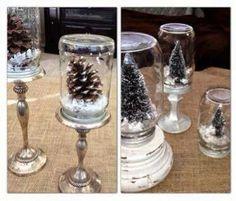 Snow globes/mason jars