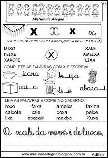 Livro famílias silábicas-letra X