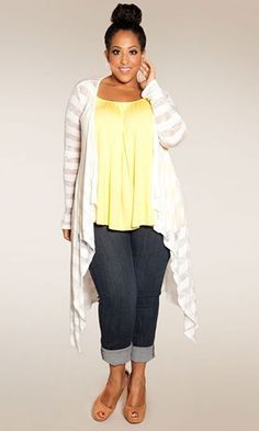 Knits Cardigans, Cute Plus Size Summer Outfits, Plus Size Fashion, Casual Outfits, Plus Size Style, Knits Sweaters, Plus Size Clothing, Spring Outfits, ...