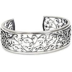 Sterling Silver Filigree Cuff Bracelet ($69.00)