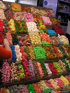 """My first response--CANDY CANDY CANDY!! Then, """"I wonder how many people have sneezed or coughed on that."""""""