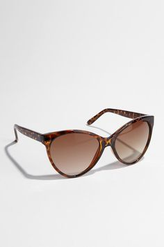 Oversized Cat-Eye Sunglasses; they look good on everyone.  Seriously.  Urban Outfitters