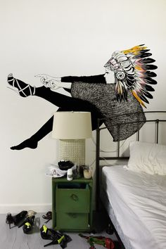 I NEVER SAW THE SIGN wall decal by David Bray