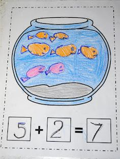 students could create these on the computer and print! fish addition, spill and add and piggy bank addition