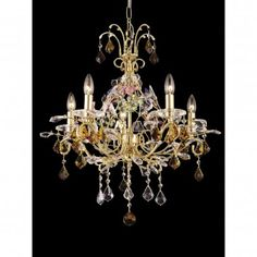 Dale Tiffany Ceiling Lights 5 Light Harlow Crystal Chandelier - GH80253