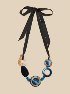 Elenamiro: Collana con ciondoli blu Blu_1