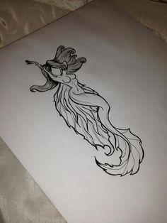 Meerjungfrau Tattoo Design Art - My most beautiful tattoo list Mermaid Tattoo Designs, Mermaid Drawings, Mermaid Tattoos, Mermaid Art, Mermaid Sketch, Tattoo Sketches, Tattoo Drawings, Art Sketches, Art Drawings
