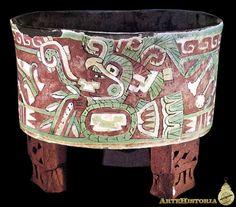 Vasija con representación de Xochipilli (Teotihuacan, México) Autor: Fecha: 1-700 Museo: Características: Estilo: Material: Cerámica Pintada