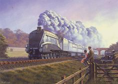 Railway engine locomotive steam #train a4 #silver link #birthday card, View more on the LINK: http://www.zeppy.io/product/gb/2/181113535518/
