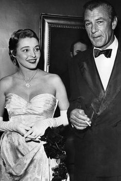 Patricia Neal and Gary Cooper in the early 1950s
