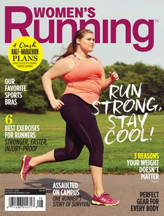 Very inspiring.  I hope to see more real women on health and fitness magazine covers.  Plus-Size Model Erica Jean Schenk ''Stunned'' by Women's Running Cover: ''I Can Feel the Masses Begging for More''  Women's Running Magazine