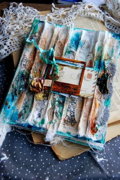 Чай с корицей: Как применить вышивку в скрап работах