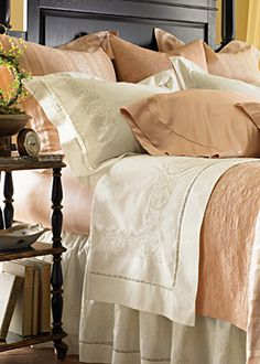Francesca Bedding Embroidered Sheets, Duvet Covers, Bed Skirts | Gracious Style