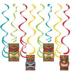 Lush Luau Shaped Ribbon Banner Decorations Luau Hawaiian Party Supplies