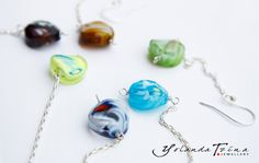 925 Silver Earring with Murano Glass Pearl by YolandaTzina on Etsy