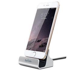 iPhone Soporte con conector cable Rayo, Spinido® Soporte de carga y sincronización para escritorio compatible con iPhone 6/6 plus/5/5s (Casos de apoyar versión actualizada), (plata) - http://www.tiendasmoviles.net/2016/01/iphone-soporte-con-conector-cable-rayo-spinido-soporte-de-carga-y-sincronizacion-para-escritorio-compatible-con-iphone-66-plus55s-casos-de-apoyar-version-actualizada-plata/
