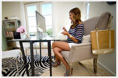 Office space, office decor, decorating office, office touches, decorating tips #camillestyles