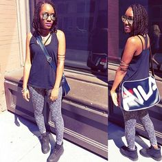 I think I'm addicted to Fila😅 サマーだぁ😎 Filaにハマってるよ😙 #fashionblogger #fashion #style #ootd #outfit #streetstyle #streetsnap #fila #vintage #romwe #shein #timberlands #timberland #leggings #summer #braids #hairstyle #コーディネート #asseenonme #asos #コーデ #スタイル #ファッション #nyc #instalike #photooftheday #girl