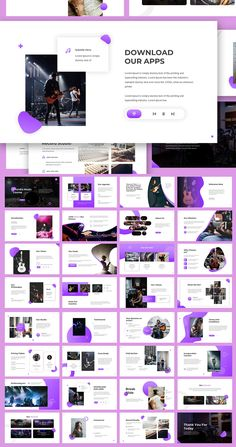 Chordia - Music Keynote Template by giantdesign on Envato Elements Powerpoint Design Templates, Booklet Design, Ppt Design, Design Poster, Slide Design, Keynote Template, Presentation Slides Design, Company Presentation, Presentation Layout
