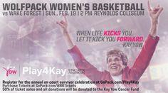 #kayyow #cancerawareness #playforkay #basketball #womens