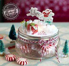 Santa Jar Topper by Betsy Veldman for Papertrey Ink (September 2015)