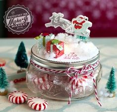 Santa Jar Topper by Betsy Veldman for Papertrey Ink (September 2015)