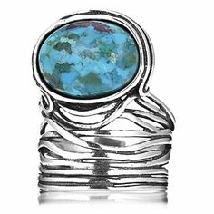 Or Paz Oval Wrap Ring Sterling Silver
