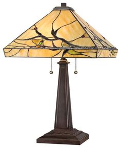 The lamp Katrina found to replace the one broken by the unknown intruder. (Products Tiffany Lamps)